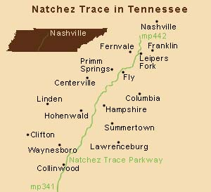 Natchez Trace in Tennessee