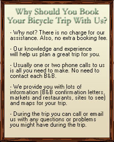 Why Should You Book Your Bicycle Trip With Us?