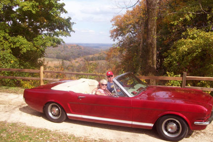 Old Trace Drive / 1965 Mustang Convertible - Natchez Trace Fall Foliage