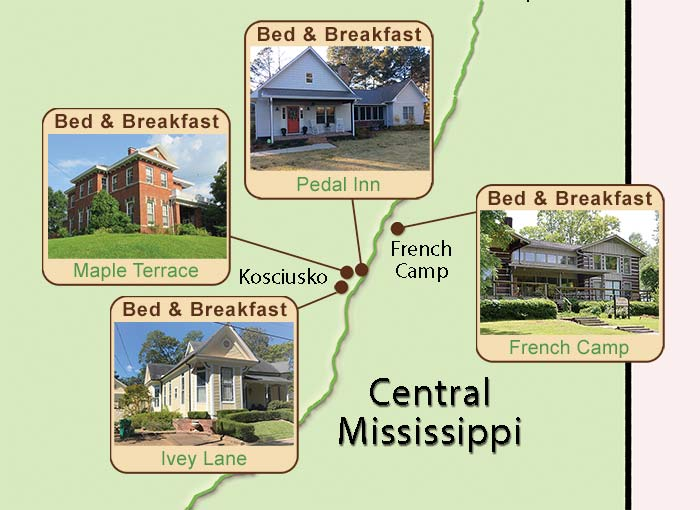 Central Mississippi Bed and Breakfasts