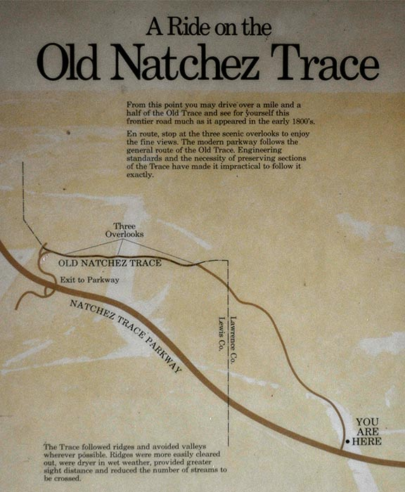 Old Trace Drive Map