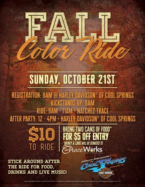 Fall Color Motorcycle Ride - Franklin, Tennessee