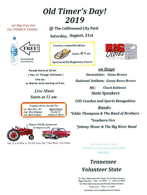 Old Timer's Day - Collinwood, Tennessee