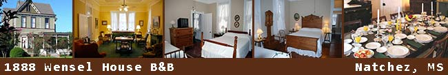1888 Wensel House Bed and Breakfast - Natchez, Mississippi