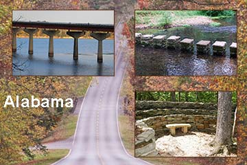 Natchez Trace Parkway in Alabama