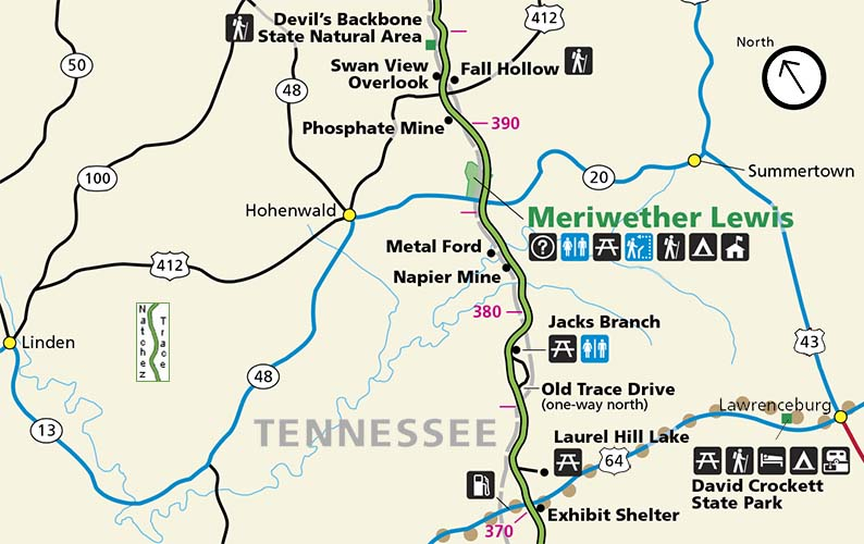 Hohenwald - Summertown Tennessee - Natchez Trace