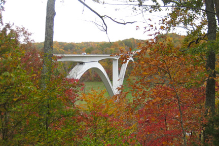 Double Arch Bridge - Natchez Trace Fall Foliage