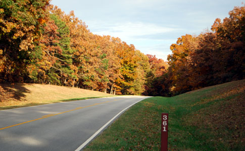 Milepost 361 - Natchez Trace Fall Foliage
