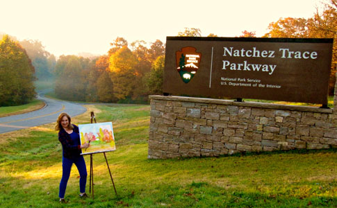Milepost 440 - Natchez Trace Fall Foliage