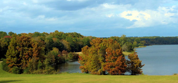 Reservoir Overlook - Mississippi Fall Foliage
