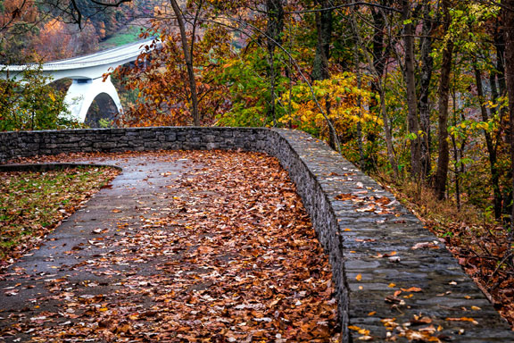 Double Arch Bridge - Tennessee Fall Foliage