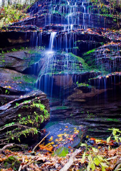 Fall Hollow Waterfall - Tennessee Fall Foliage