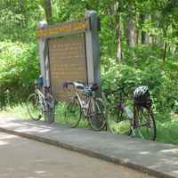 Mississippi - Cyclists taking a break to check out Cypress Swamp.