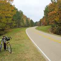 Mississippi - Bicycles taking a break at milepost 299 looking south.