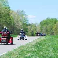 Tennessee - Group of bikers enjoying an April ride on the Trace.