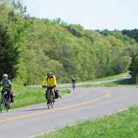 Cyclists at milepost 427.