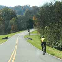 Cyclist near the Jackson Falls exit.