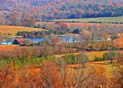Fall foliage at Water Valley Overlook.