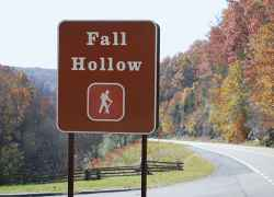 Fall Hollow is just north of the US 412 intersection.