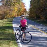Bicycling on a beautiful, early fall day near milepost 362 in southern Tennessee.