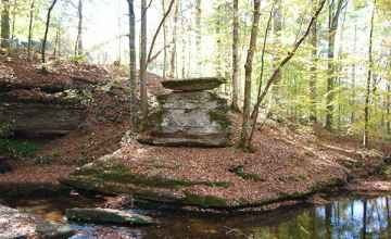 Across the creek at Glenrock Branch picnic area sits this interesting rock formation.