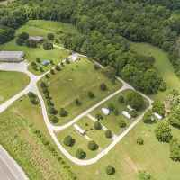 Aerial view of Fall Hollow Bed & Breakfast and Campground
