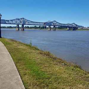 View of MS River from Natchez Under-the-Hill.