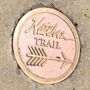 One of the main trail markers pointing you in the right direction.