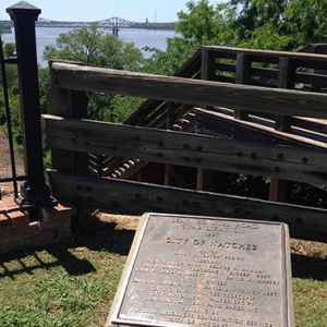 One of the historical markers along the trail.