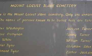 A cemetery holds the remains of about 43 enslaved workers at Mount Locust.