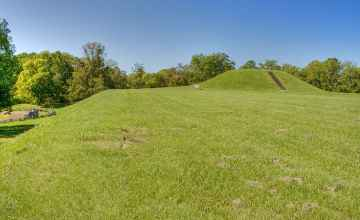 View of largest mound at Emerald Mound