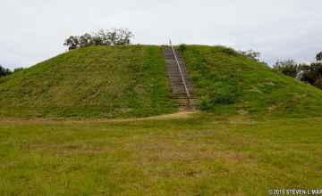 Emerald Mound is the second largest Indian Temple Mound in the United States.