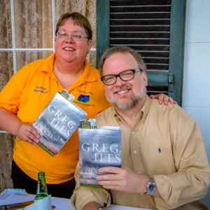 Karla with best selling writer Greg Iles