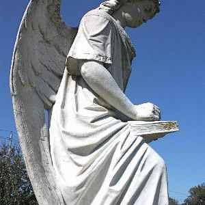 The Turning Angel at Natchez Cemetery