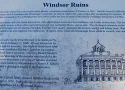 Windsor Ruins Information Sign