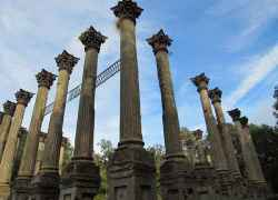 You can see 18 of the 23 columns in this photo of Windsor Ruins.