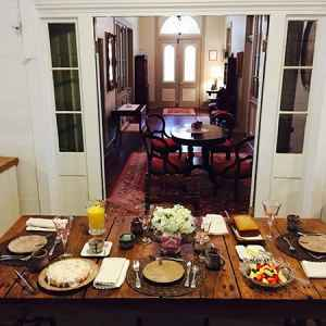 Breakfast served at the historic Dupree House - Mamie's Cottage B&B