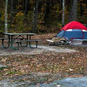 Tent camping at Jeff Busby Campground