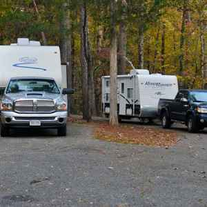 RV camping at Jeff Busby Campground