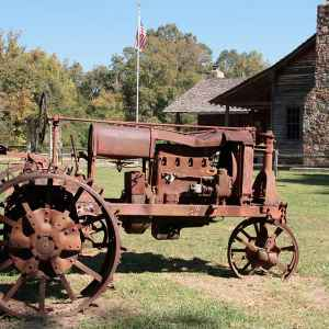 Antique Tractor at French Camp Historic Village