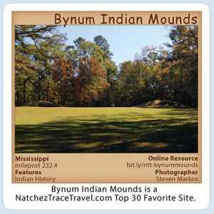 Bynum Indian Mounds Stickers
