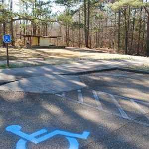 From the parking area, a paved path leads you to Bynum Mounds.