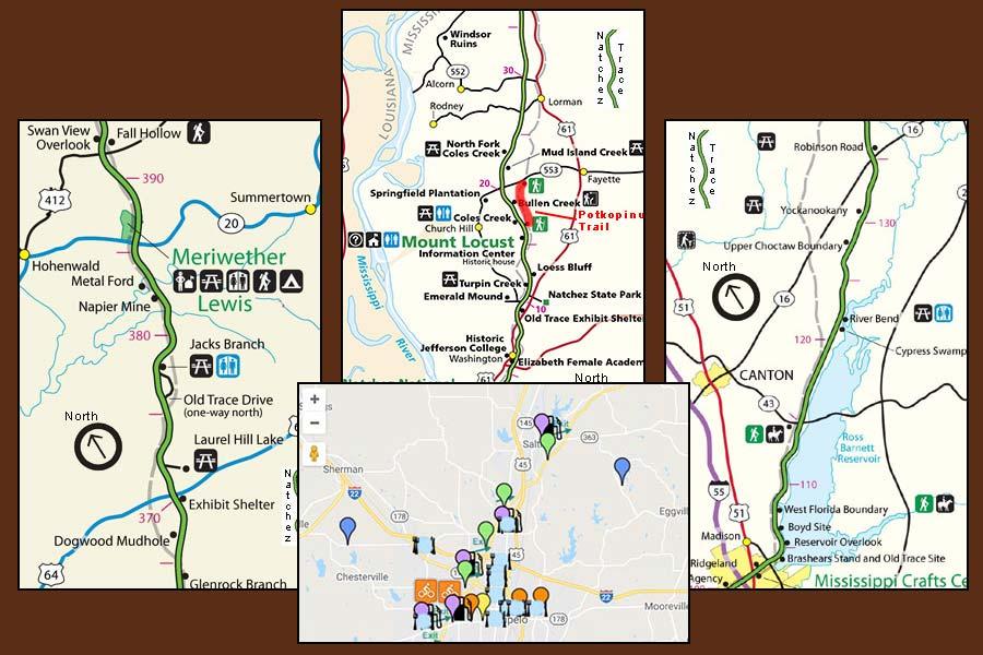 Natchez Trace Parkway Elevation Map.Natchez Trace Parkway Natcheztracetravel Com