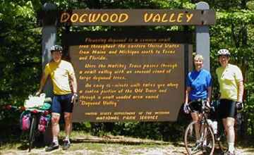 Cyclists from Oxon Hill Bike Club taking a break at Dogwood Valley.