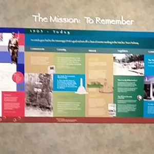 Display panel at the Parkway Visitor Center in Tupelo, MS.