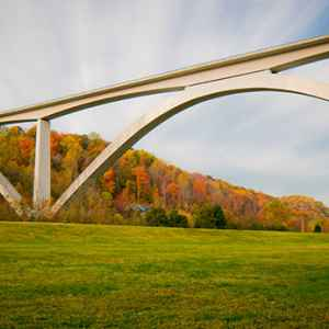 Nashville - Franklin area: View of Double Arch Bridge from the valley below.