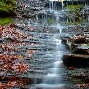 Columbia - Centerville area: Jackson Falls on an early November fall day.