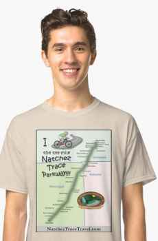 Map of the Parkway - Men's T Shirt