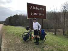 Mike at the Alabama State Line