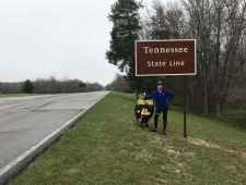 Mike at the Tennessee State Line